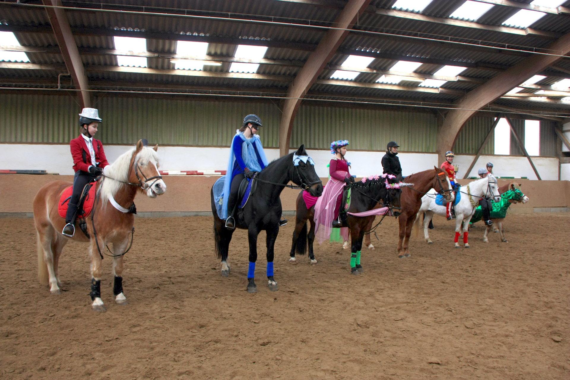 Beitragsbild - Die verkleideten Reiter und Pferde
